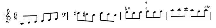 Pasquini sonata, 2nd movement