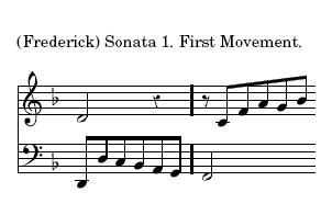 (Frederick) Sonata 1. First Movement.]